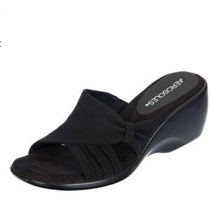 Aerosoles On Deck Black Slip On Sandals